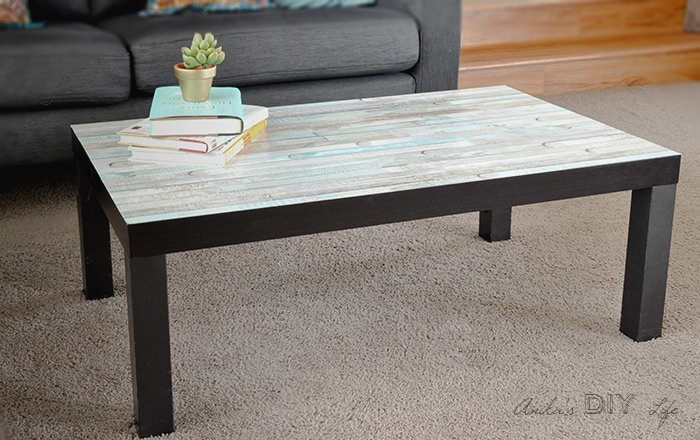 Ikea Lack coffee table hack | faux wood Ikea Lack hack | Farmhouse Ikea Lack table hack