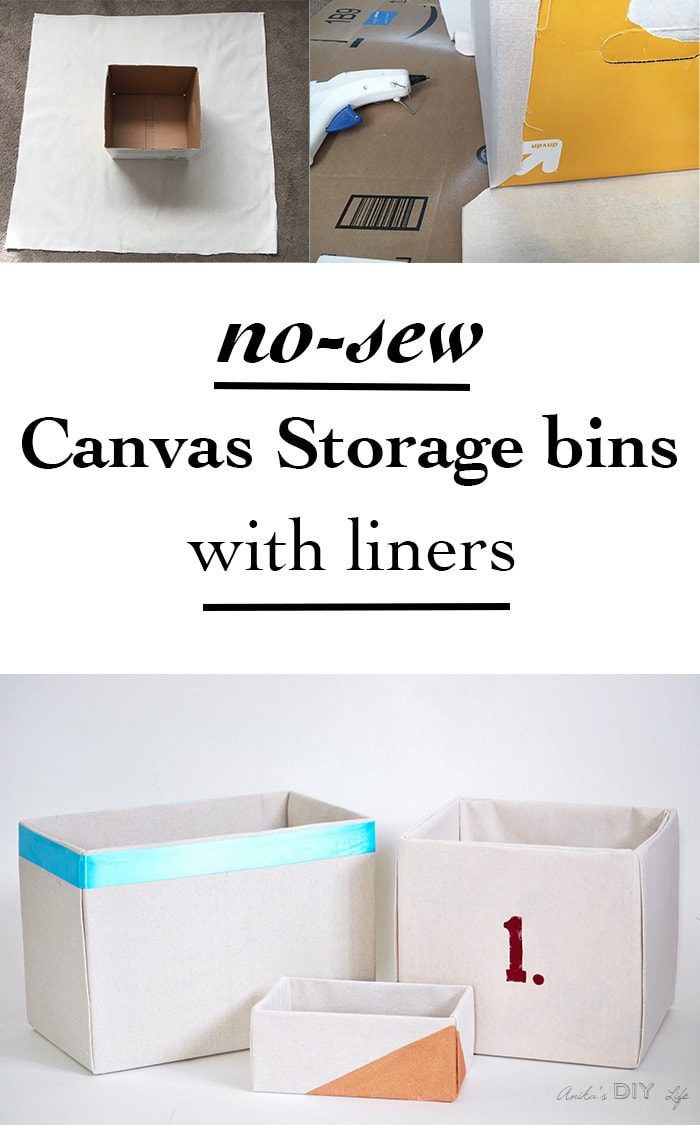 This is the best step by step tutorial for making no-sew fabric wrapped storage boxes. Drop cloth covered boxes make great canvas storage bins.