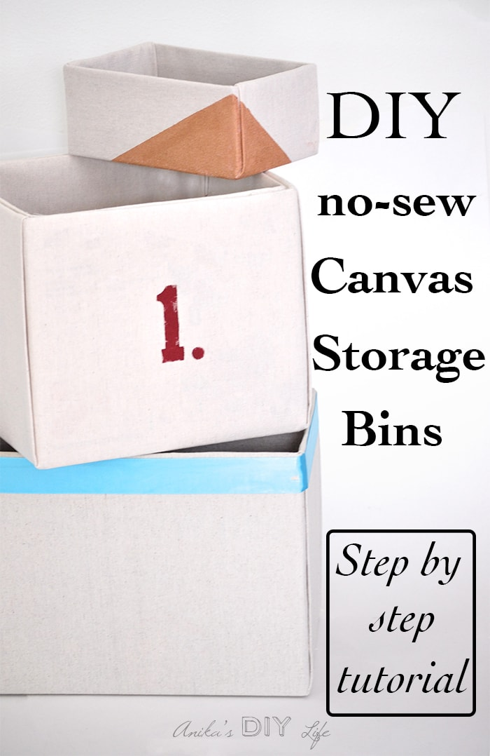 Pin It Button This Is The Best Step By Tutorial For Making No Sew Fabric Wrapped Storage