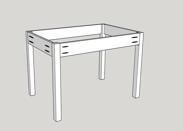 Easy DIY Kids Table With Storage | Build A Schoolhouse Desk. Easy  Beginneru0027s Build
