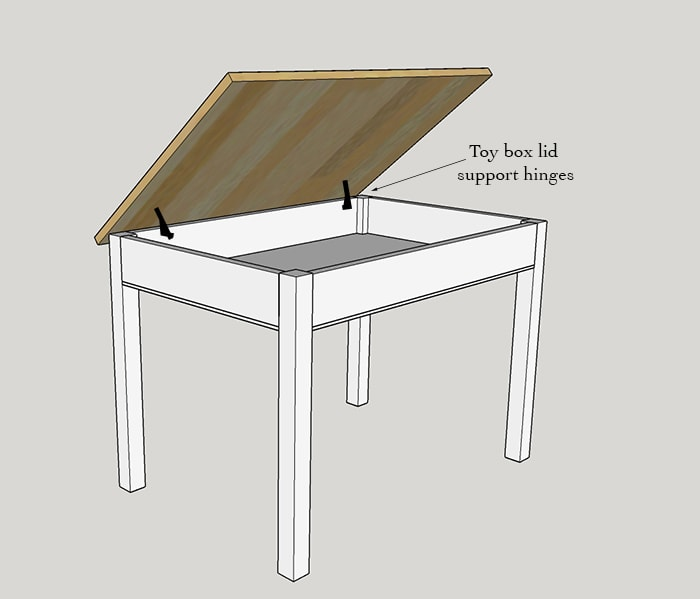 Easy Diy Kids Table With Storage Build A Schoolhouse Desk Beginner S
