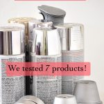 collection of silver spray paint cans with text overlay