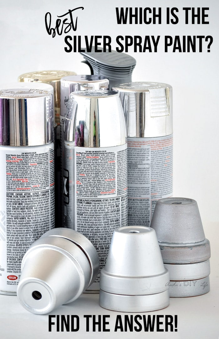 Collection of silver spray paint cans with text overlay which is the best silver spray paint