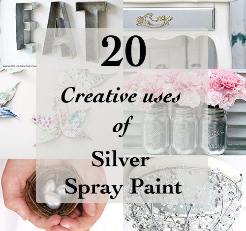 20 Creative ways to use Silver Spray paint