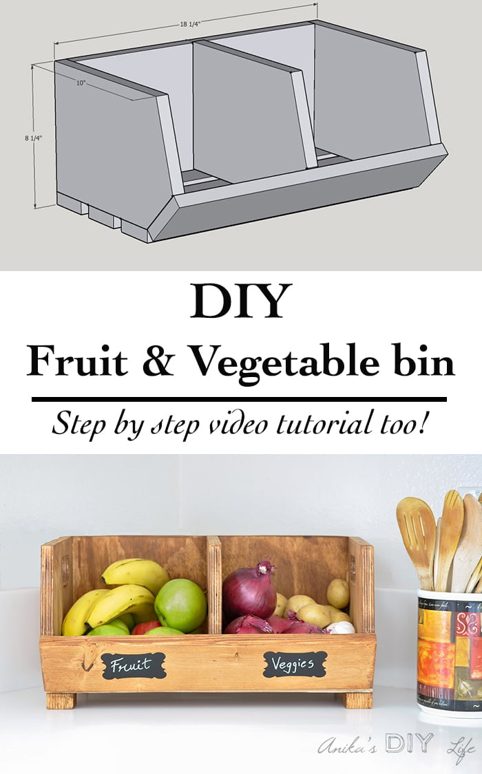 ... Easy DIY Vegetable Storage Bin With Divider | Perfect Beginner  Woodworking Project | Scrap Wood Project