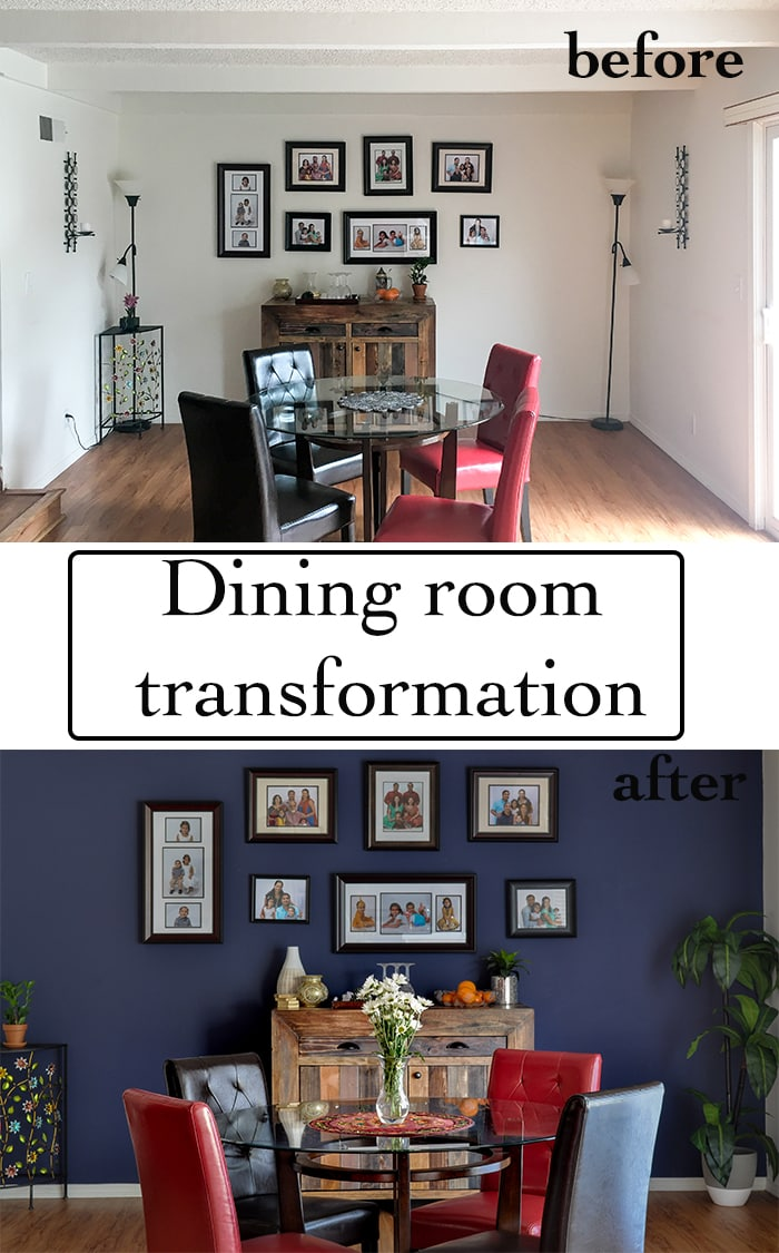 Paint an accent wall. Dining room color scheme and ideas | Choosing the perfect paint color