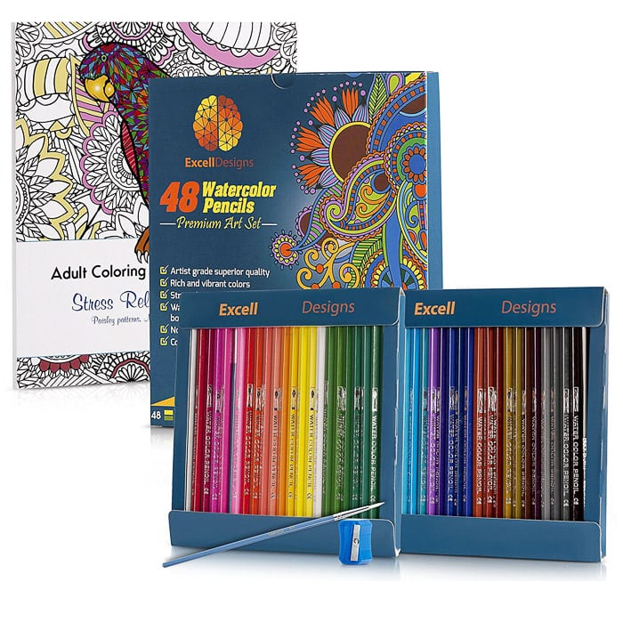 Adult coloring book gift set - perfect gift idea for the creative minds