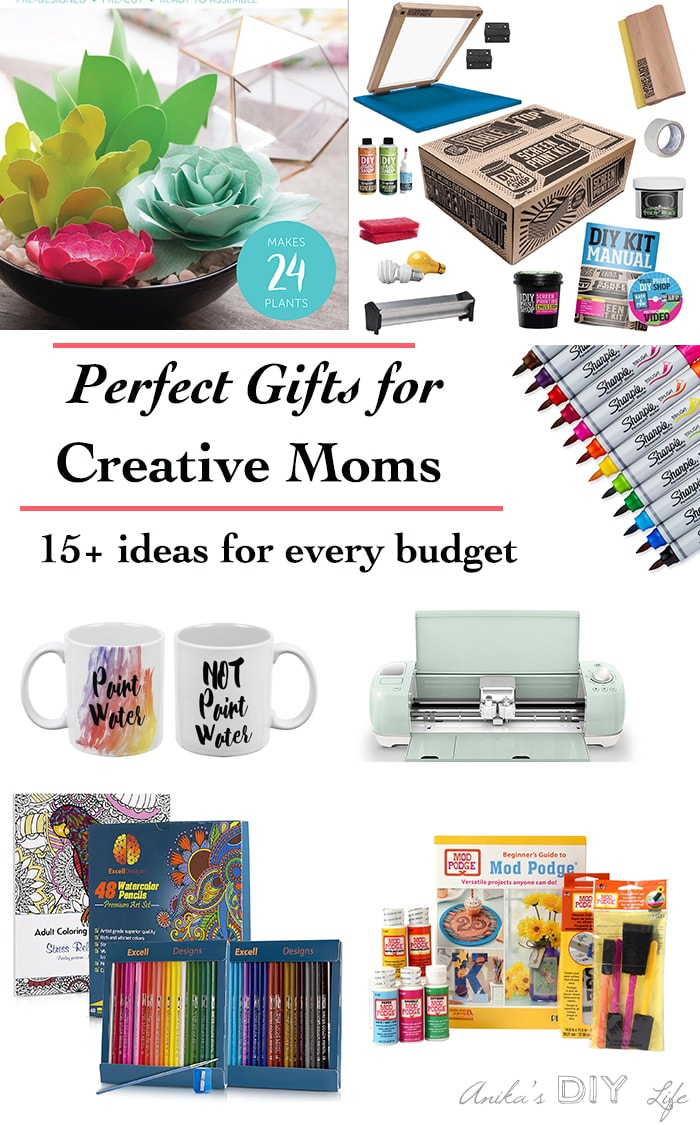 Perfect gift idea for Mother's Day or birthday gift ideas for creative moms