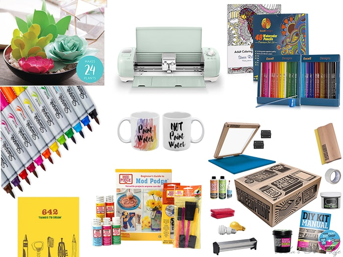 Gift ideas for creative minds can be a tough one! Here are 20 of the coolest gift ideas for artist, maker or DIYer in your lifethey are sure to love!