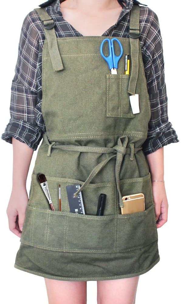 craft apron with pockets