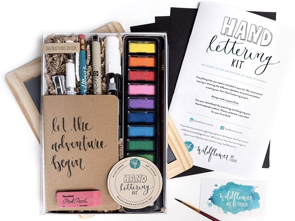 hand lettering kit for creative minds