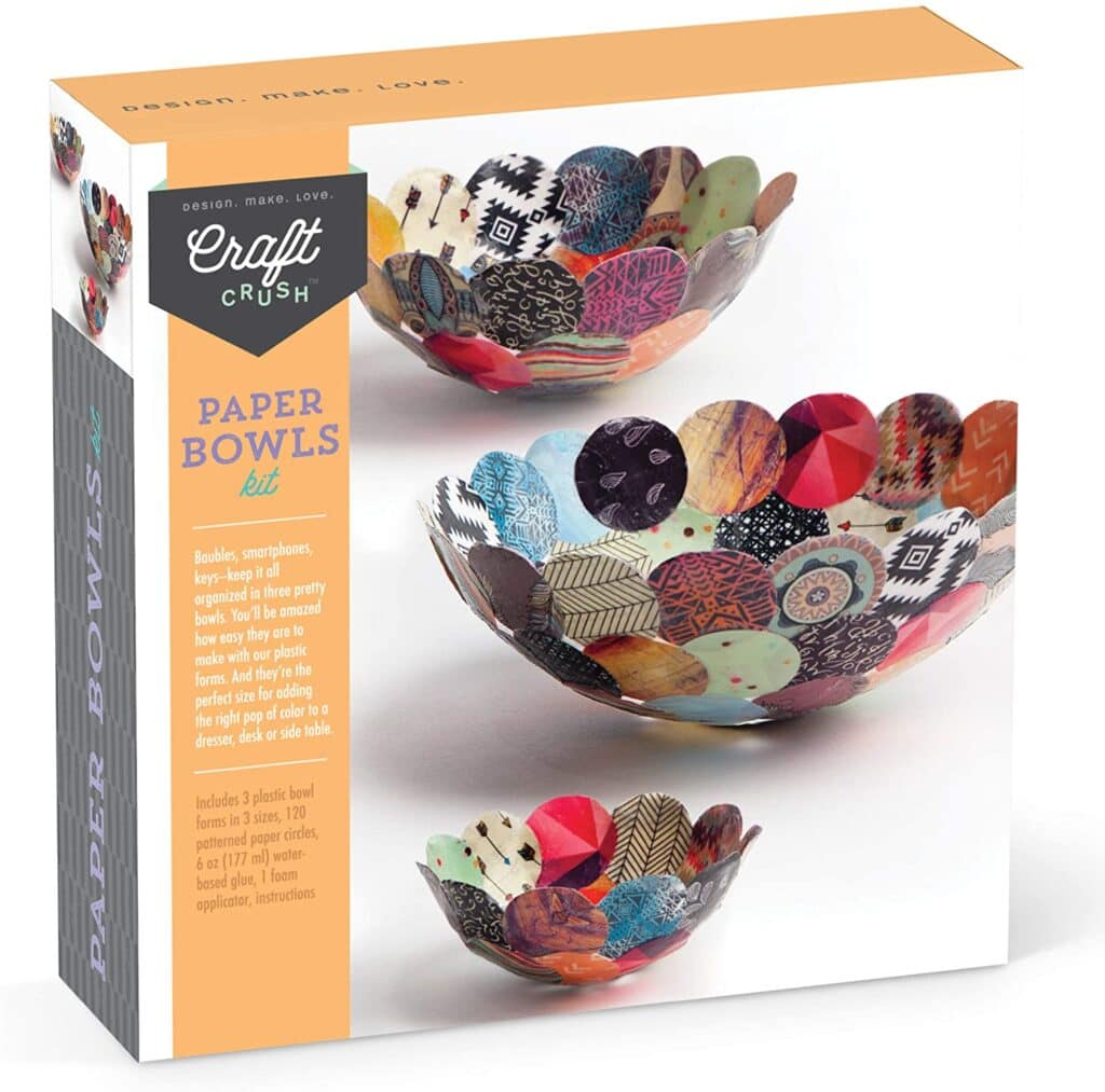 Paper bowl kit, a perfect gift idea for creative minds