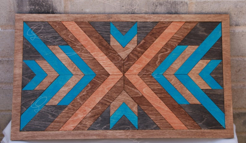 wood barn quilt wall art DIY kit