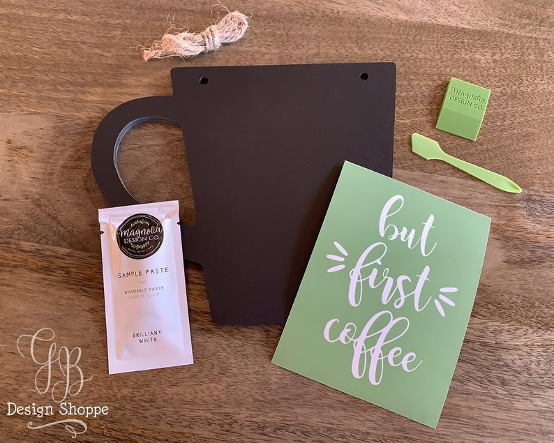 coffee plaque stencil kit