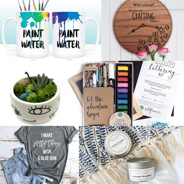 image collage of gifts for creative minds