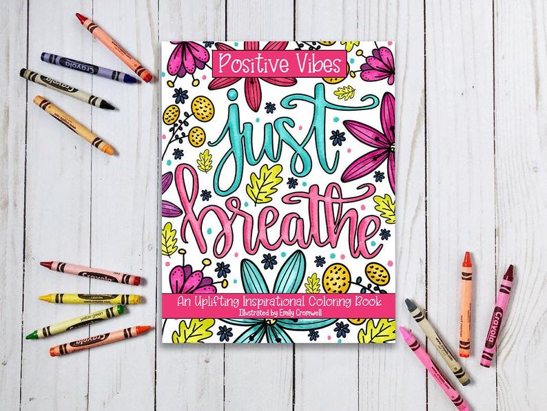 Adult coloring book Just Breath