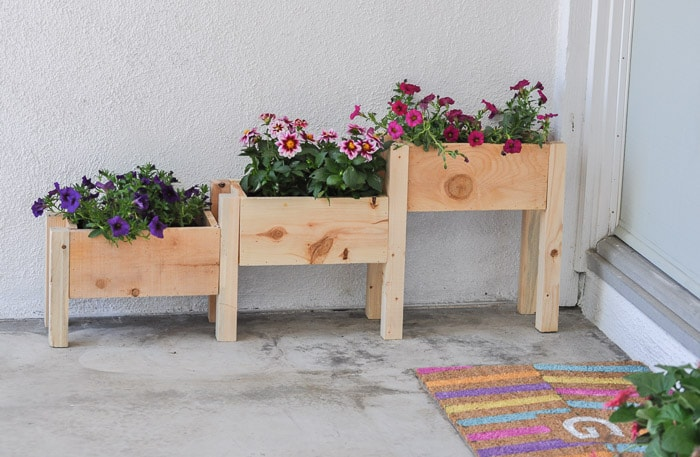 Easy DIY tiered planter box made from $10 in materials