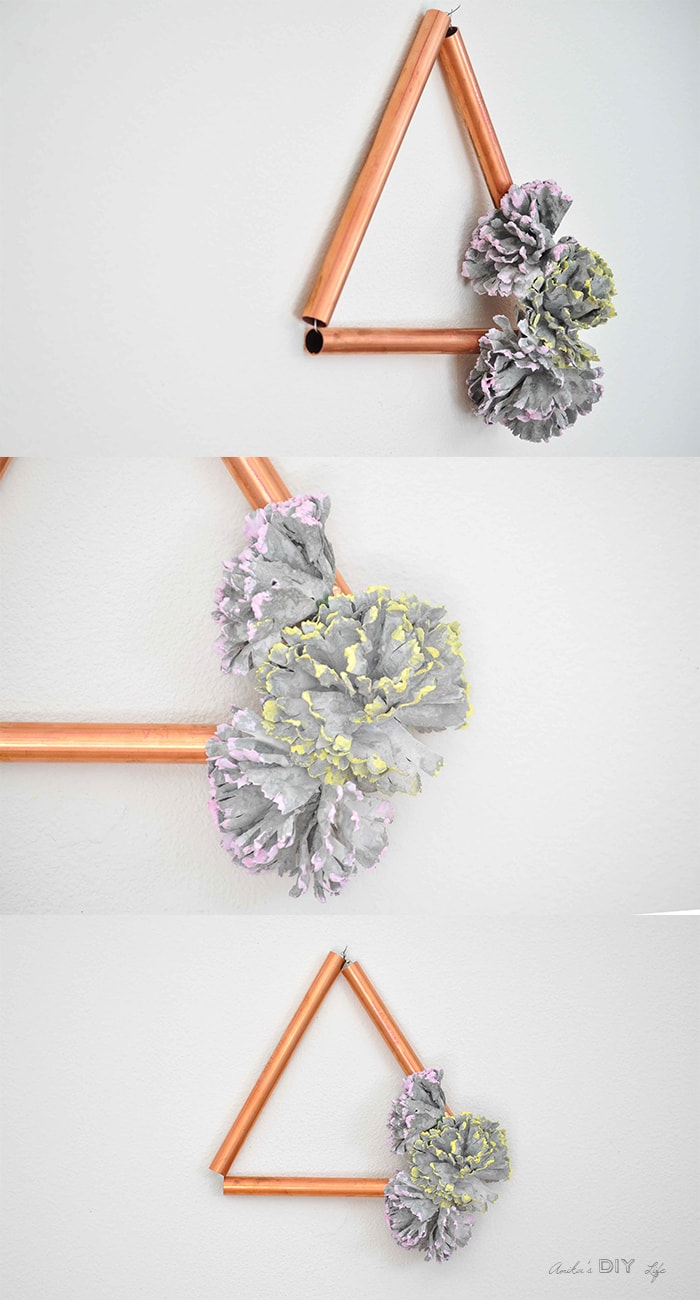 Easy Modern DIY Copper Decor with Concrete Flowers - Anika ...