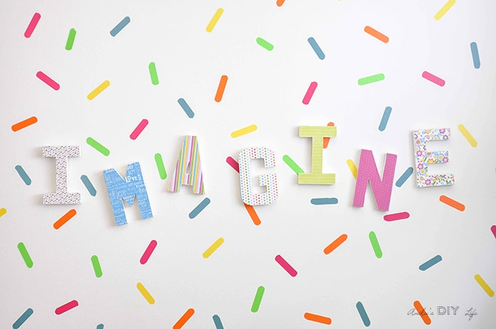 Fun playroom wall decor idea