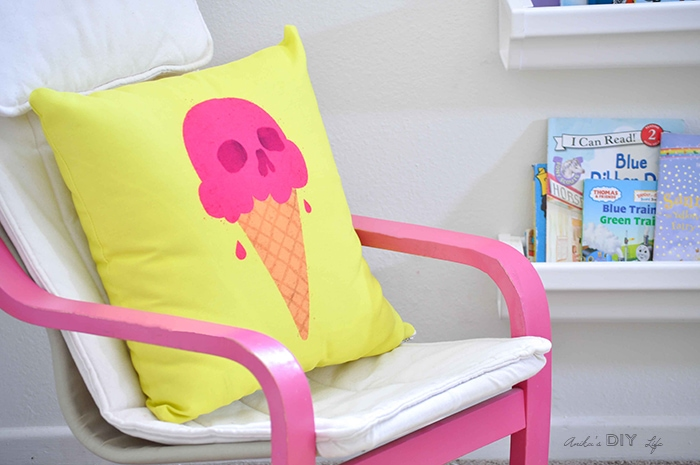 Ice cream pillow - perfect for a kids room decor or as playroom accessory