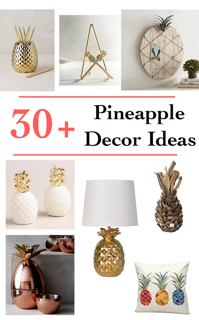 Wow! Such beautiful options for pineapple decor!
