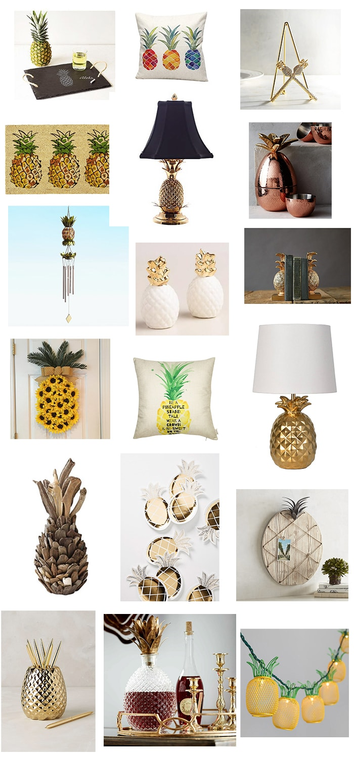 Beautiful Pineapple decor from around the internet!