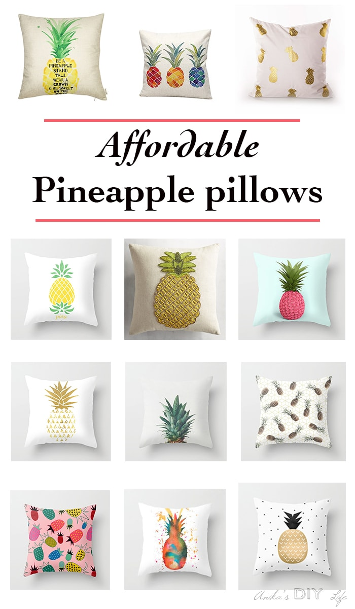 Pineapple themed pillows!! Wow! Can't pick a favorite!