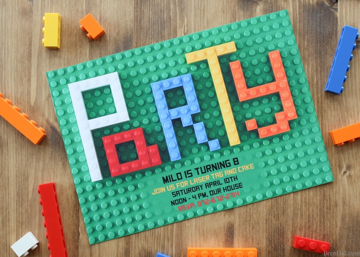How to make a Lego invitation
