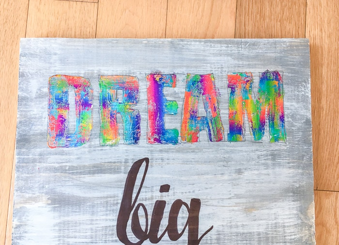 Dream big - wall art for kids room using deco foil and adhesive