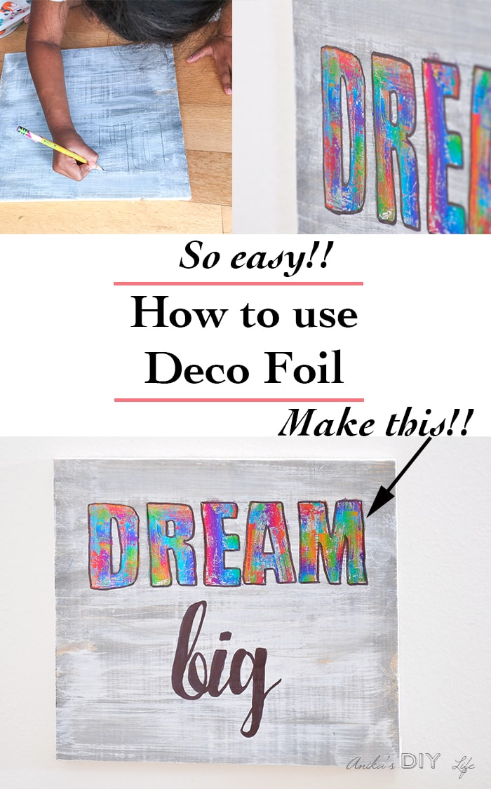 Make a unique decoration with deco foil | DIY Kids room decor idea