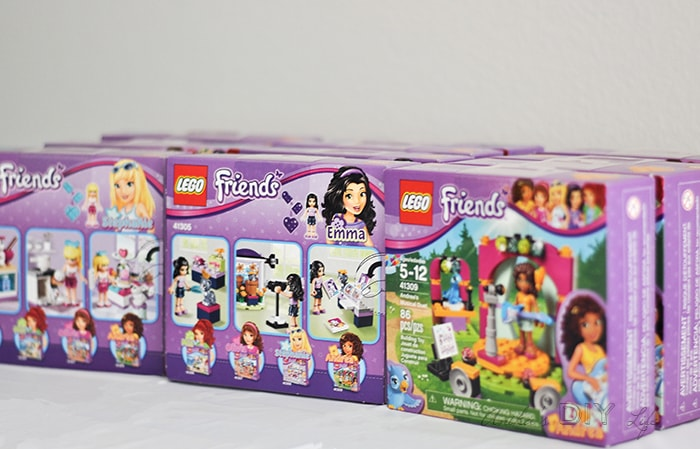 Lego Friends themed birthday party - favors