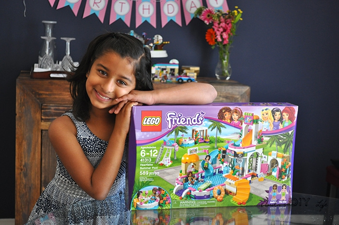 Lego friends themed birthday party full of fun color and legos lego friends themed birthday party filmwisefo