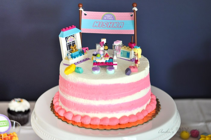 Lego Friends Birthday cake idea