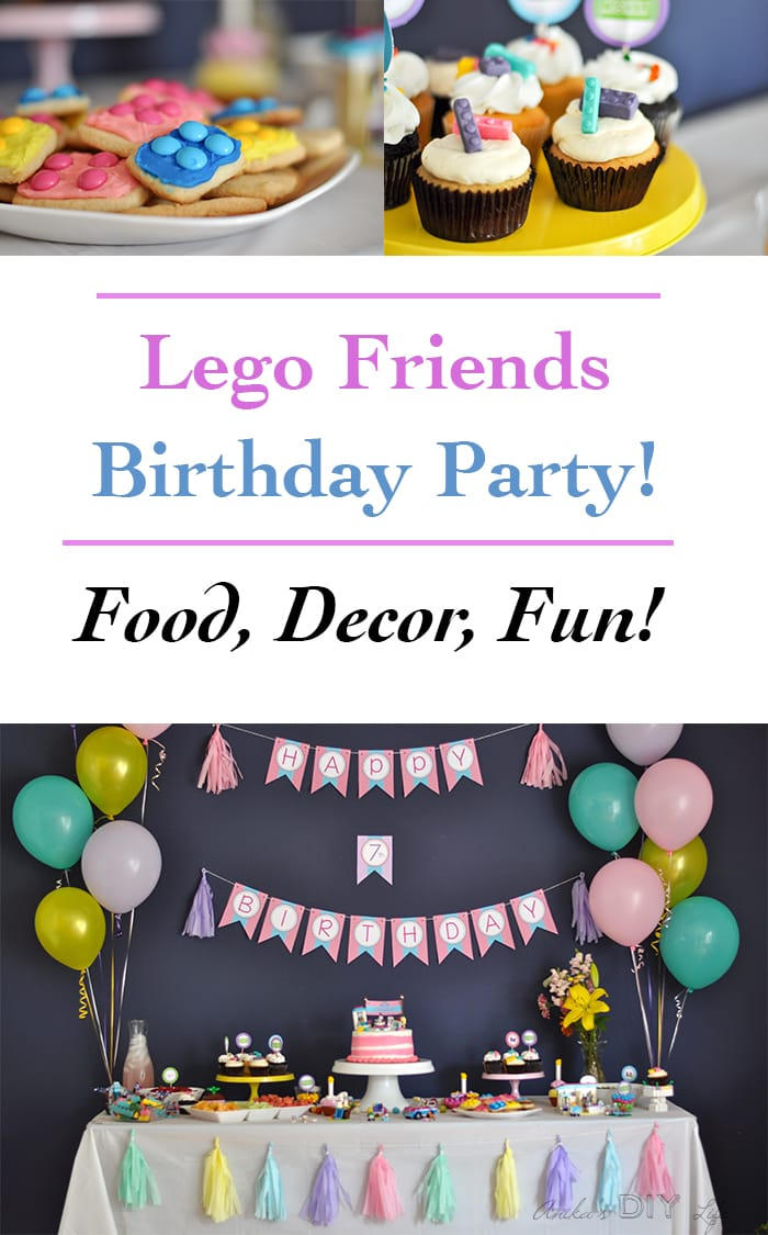 Lego Friends birthday party ideas - food, decor and activities