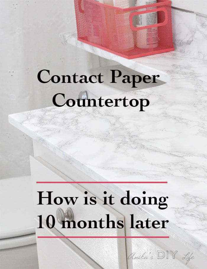 I Canu0027t Believe How This Marble Contact Paper Countertop Has Held Up In A