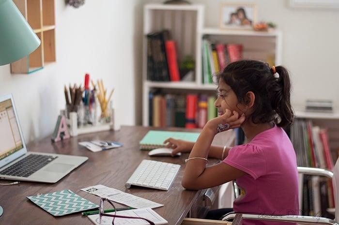 DIY modern farmhouse desk with storage - free tutorial and plans