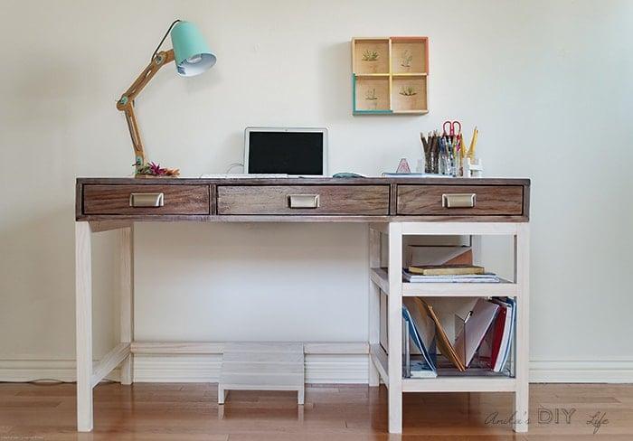 Diy Modern Farmhouse Desk Plans And Video Anikas Diy Life