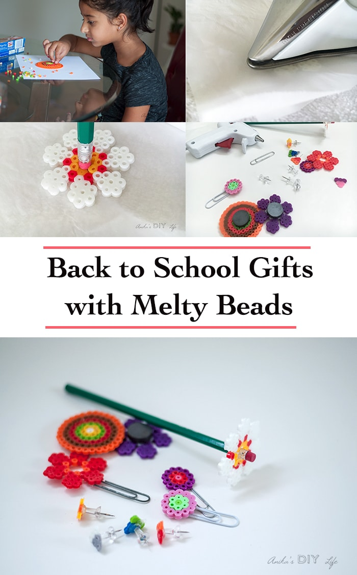 Melty beads crafts are so fun for kids to make! Also called Perler beads, they wonderfully fuse together to make fun back to school teacher gifts!