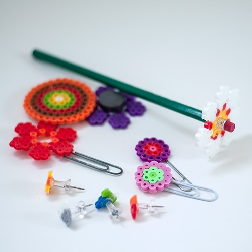Melty beads crafts are so fun for kids to make! Also called Perler beads, they wonderfully fuse together to create fun back to school teacher gifts!