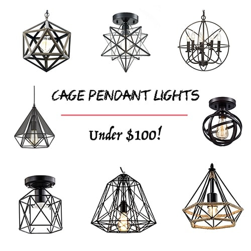 Cage Pendant Lights under $100