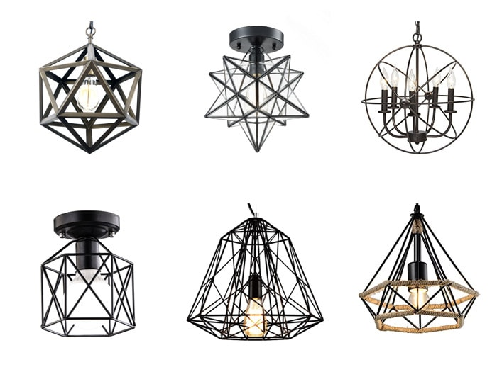 affordable cage pendant lights under $100. Industrial lighting ideas