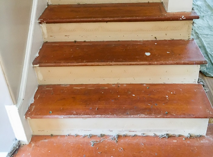 Stairs After Removing Carpet