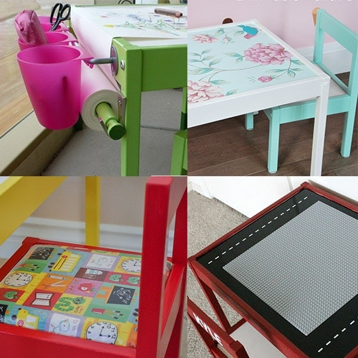 Ikea Latt Table and Chair Hacks – 12 Ways to do it