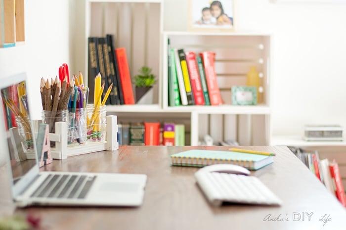 Desk Organization Idea Using A DIY Mason Jar Organizer | Scrap Wood Project  Idea
