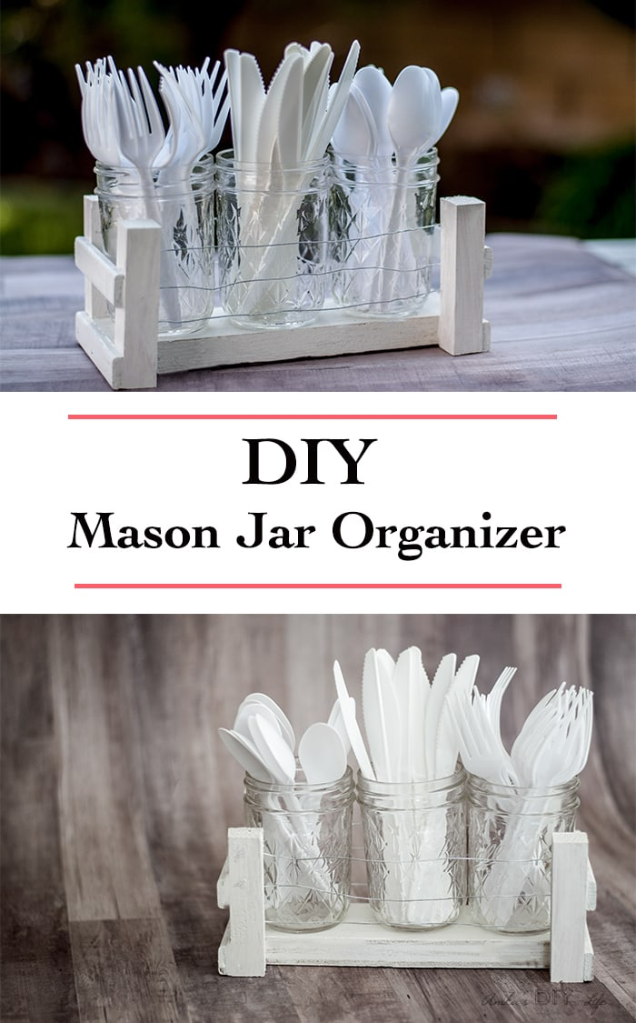 Diy Mason Jar Organizer Idea Desk Utensil For Barbecue
