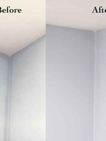 Uneven wall paint color between rolled and brushed on paint can be a huge disappointment. What I learned about it and how to fix it without repainting.