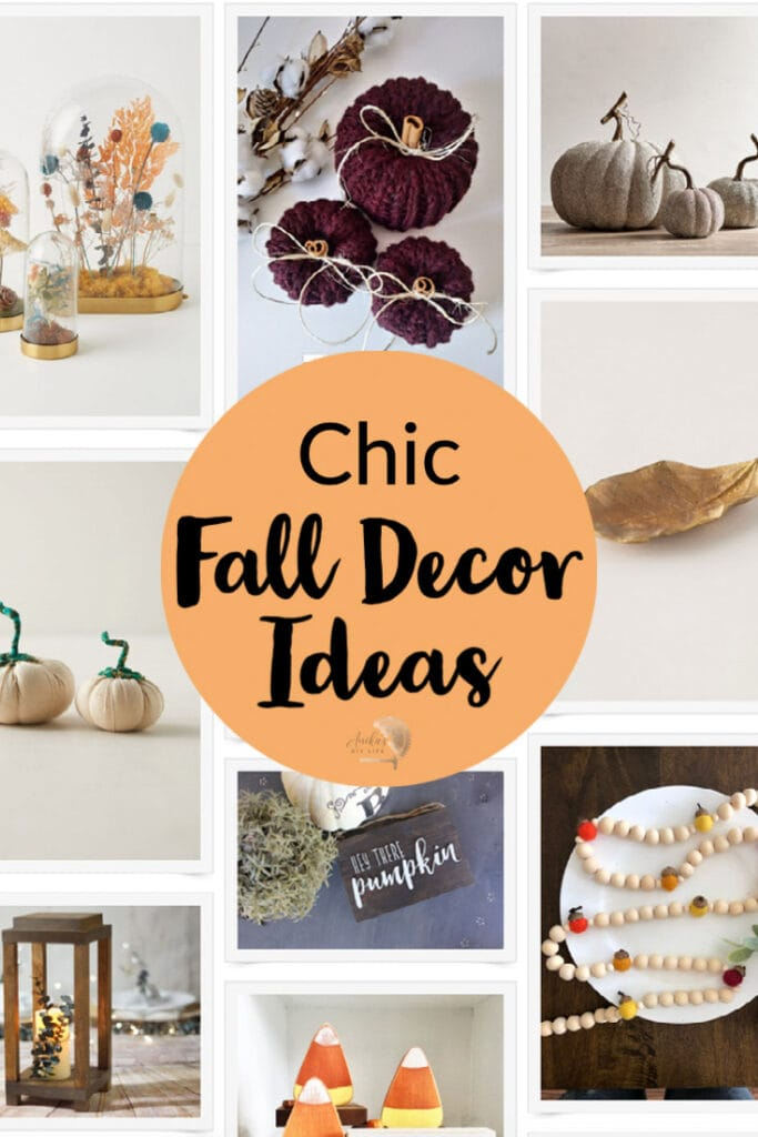 Collage of classy fall decor ideas with text overlay