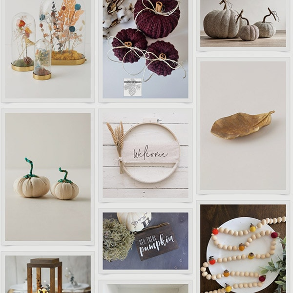 Decorate with these budget-friendly, elegant and classy fall decor finds from around the internet - from small businesses to large stores!