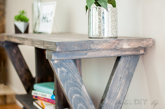 Make an easy DIY console table with X-leg