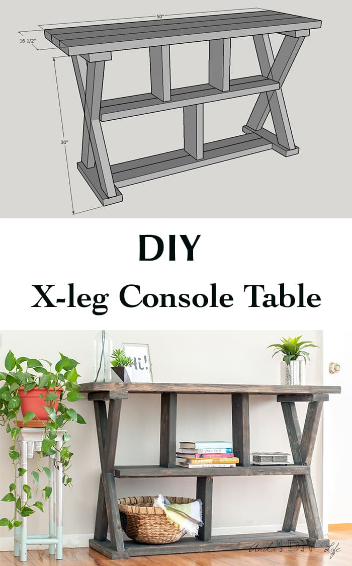 Picture of: Diy Rustic X Leg Console Table With Plans Anika S Diy Life